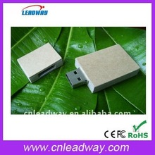 Low cost new design standard shape wooden promotional USB pen