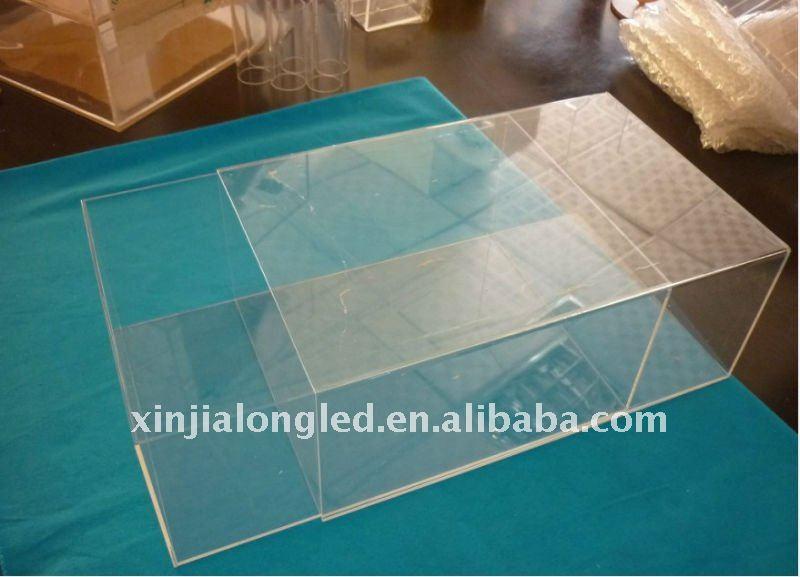Bo te de chaussure acrylique transparente bo tes caisses - Boite rangement transparente ...