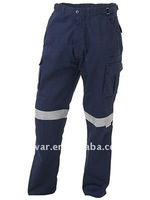 Mens Heavy weight poly Cotton Twill Pants Workwear industrial reflective Pants work trousers