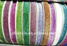 Fashion metallic ribbon with glitter
