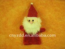 plush santa claus hand puppet