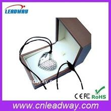 Love heart jewelry diamond crystal promotional gift USB flash drive