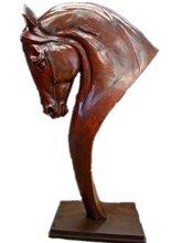bronze horse head statue