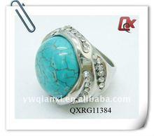 Fashion turquoise wedding rings (QXRG11384)