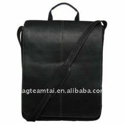 Leather 17-inch Vertical Laptop Messenger Bag