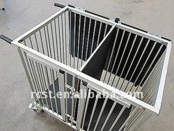 folding aluminum pet cage trolley