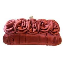 CT-EB020 2011 fashion rose satin evening bag