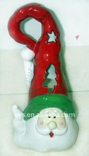 ceramic santa claus head decor