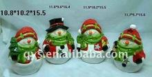 colorful ceramic christmas snowman