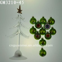 glass christmas tree ornament with mould