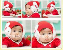 2011 fashion cartoon rabbit baby caps/hats,100% cartoon