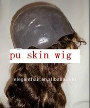 pu skin injected hair wig