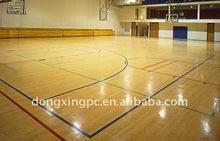 China interior quadra de basquete piso de madeira