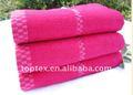 100% kintted de algodón fibra bambú toallas terry tela