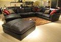 estilo europeu completo couro sofá de canto moderno
