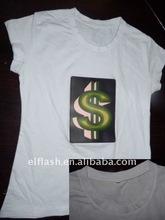 female/male/child style el velcro t-shirt