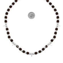 fashion cylinder brown plastic beads necklaces