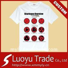 Custom Tee Shirts OEM Printing 100% Cotton Couple T-shirt
