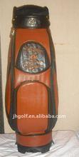 Stylish golf bag cow leather golf bag
