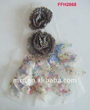elegant appliques/beatiful corsage/chifffon flower trims