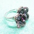vogue fiore anelli di pietra gioielli viola