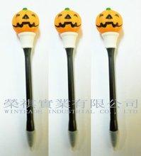 Pumpkin Design Pen with LED light, Flashing Pumpkin Pen