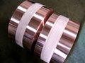flexible de color rojo cobre y papel de aluminio de cinta de cobre