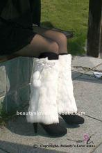 Pom Faux Fur Leg Warmer