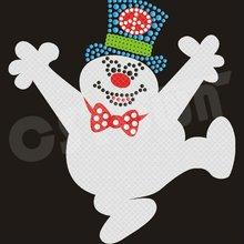 2012 Newest Christmas Snowman Hot Fix Glitter Motif