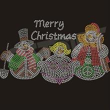 2012 Newest Christmas Snowmen Iron On Rhinestone Products
