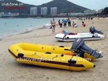 In stock (CE) PVC material optioanl floor color fold 2011 best-selling inflatable china fishing boats