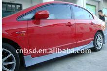 Civic Auto part body kit / Side Skirts for 06-10 Honda Civic 4 Door Bsd Style / bodykit
