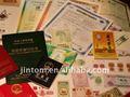 de alta seguridad de impresión certificado