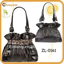 Women Fashion Leopard Belted Decoration Handbag