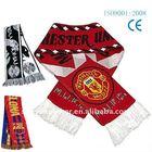 Acrylic woven Jacquard knit Fan scarf