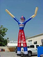 6mHigh 2 legs Promotional inflatable Skyman
