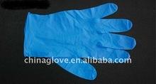 blue disposal nitrile gloves powder free