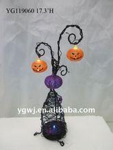 metal led hanging pumkin Halloween