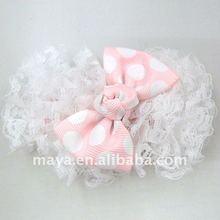 Fashion Lace And Dots Printed Hairclip MY111105-3