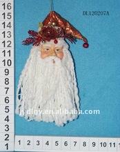 "11.5"" fabric christmas santa head decoration"