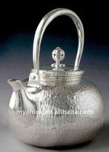 Brilliant handicraft Chinese silver tea pot sets