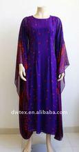 cotton paris yarn printted length kaftan dress