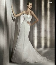 2012 New Style Strapless Lace Backless Wedding Dress