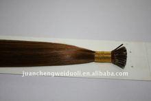 brazilian top quality remy human stick hair/pre-bonded hair extension
