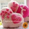 Cute heart shape pillow/plush roes flower pillow