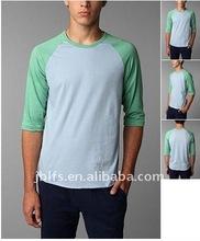 Men's 3/4 long sleeves dual raglan T SHIRT