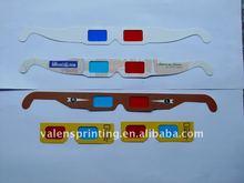 Custom logo paper 3D glasses