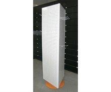 metallic rack for displaying commodity