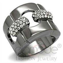 Tin Cobalt Black Plating Fashion Ring
