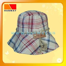 2012 new style women or girls' heavy garment wash denim fashion bucket hat and cotton rope with stopper